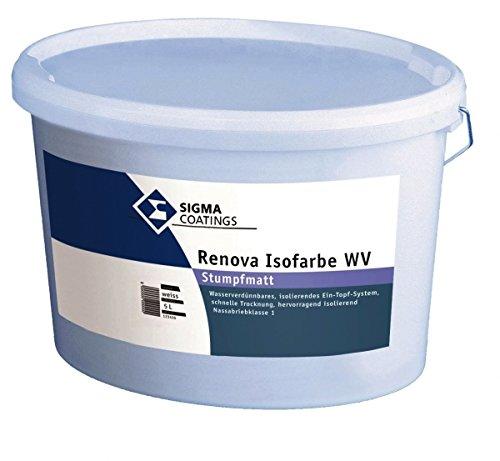 Sigma Renova Isofarbe WV 12,5L weiß stumpfmatt Wandfarbe für den Innenbereich