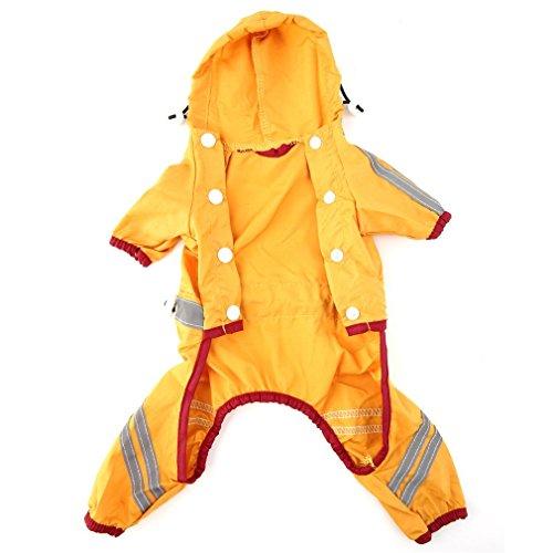 3 kleuren 5 grootte hond puppy kat glinsterende bar hoody waterdichte trui regen regenjas jas kleding acrilonoranje