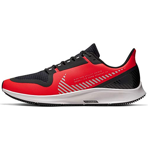 Nike Men's Air Zoom Pegasus 36 Shield Running Shoes (12, Red/Black)