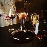 Amisglass Dekanter, Weinbelüfter Dekantierer für Rotwein, Mit Zubehör (Korkverschluss) - 100% bleifreie Weinkaraffe aus Kristallglas - Weinbelüfter Dekantierer für Rotwein - Einzigartige Geschenkidee - 7