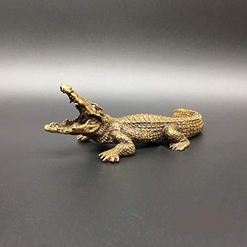 LISAQ Decoración de la Escultura de la Estatua del cocodrilo sólido de la Vendimia Decoración Creativa del gabinete del Vino del hogar