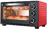 Mini Horno 23 L,Horno Eléctrico 1300 W Temperatura Regulable 70-250 ℃ y Temporizador 60 Minutos con 3 Funciones Calentamiento para Hornear Cocinar Parrilla Horno Tostador (Color:Rojo)