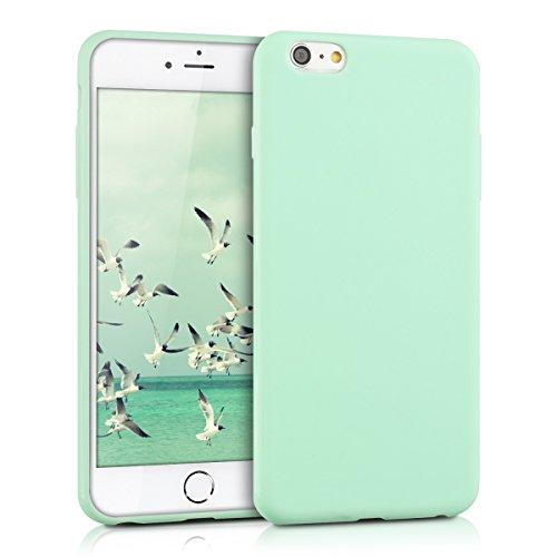 kwmobile Coque Compatible avec Apple iPhone 6 Plus / 6S Plus - Housse Protectrice pour Téléphone en Silicone Menthe Mat