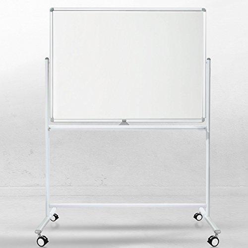 Office Marshal Mobiles Whiteboard/Doppelseitige Whiteboard- mit Alurahmen, magnetisch (120x220 cm)