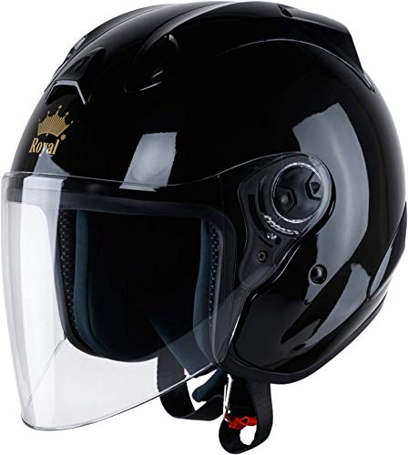 ROYAL M17 Open face Motorcycle Helmet - DOT Approved | 3/4 Helmet with 9 Air Vents and Sun Visor...