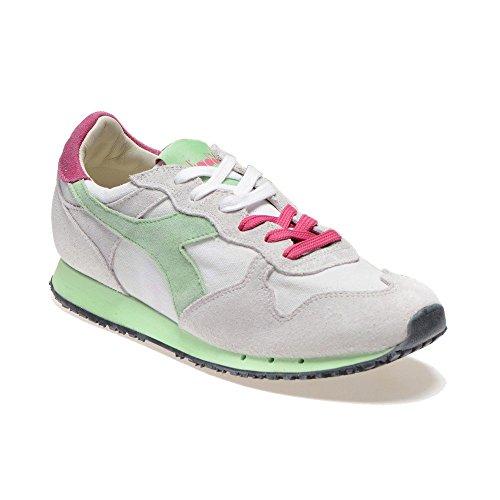 Diadora Heritage - Trident W SW Low Bianco/Verde Paradiso - Sneakers Donna - 36 EU