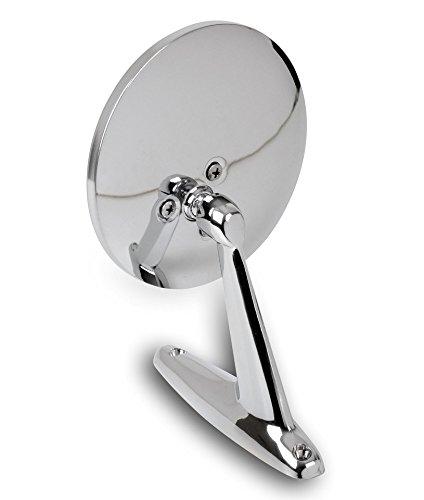 Oldtimer Miroirs universels - acier inoxydable - 1 pièce adaptée pour le conducteur et côté passager