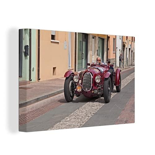 MuchoWow Photo sur toile - Ferrari - Vintage - Europe - 60x40 cm - Avec Cadre