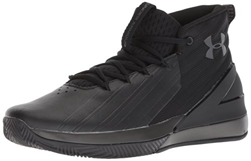 Under Armour Lockdown 3 3020622-001, Zapatos de Baloncesto Hombre, Negro (Black 3020622/001), 44 1/2 EU