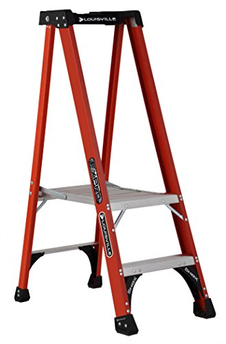 Louisville Ladder FXP1802HD Fiberglass Pro Platform Ladder, Type IAA, 375-Pound Load Capacity, 2-Feet