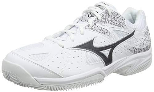 Mizuno Unisex-Erwachsene Break Shot 2 Cc Tennisschuhe, Weiß (Wht/Black/Wht 08), 44 EU