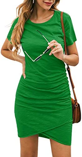 NSQTBA Spring Short Dresses for Women Party Sexy Green Bodycon Dress M product image