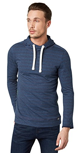 TOM TAILOR Herren Sporty Hoodie T-Shirt, Blau (Black Iris Blue 6740), X-Large