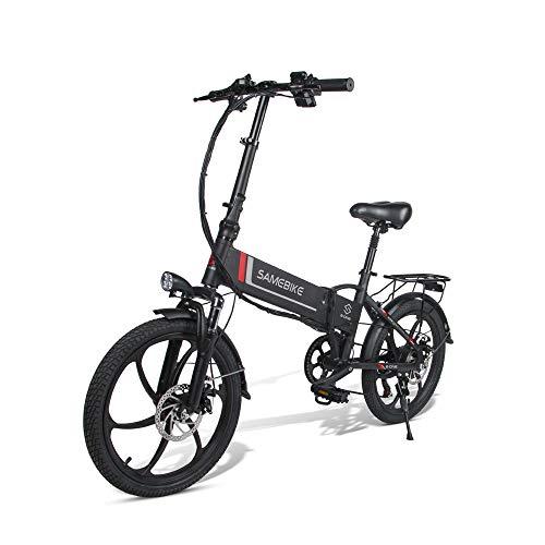 Versión Mejorada de 20 inchsamebike 20LVXD30-II Lingying Bicicleta eléctrica Plegable 48V10.4AH350W7S Rueda...