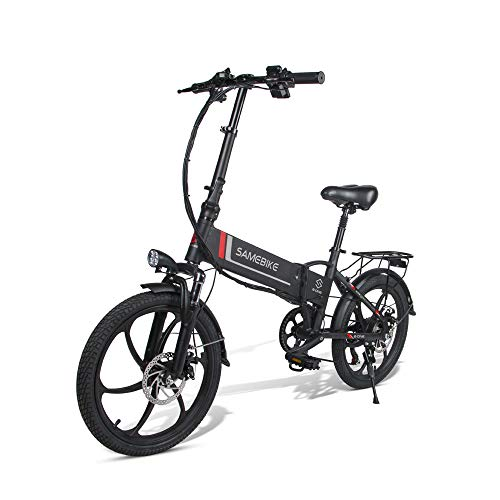 SAMEBIKE Electric Bike 20 Inch Lithium Battery with 350W Lightweight Foldable Adult Motor Electric Bicycle Portable E-Bike…