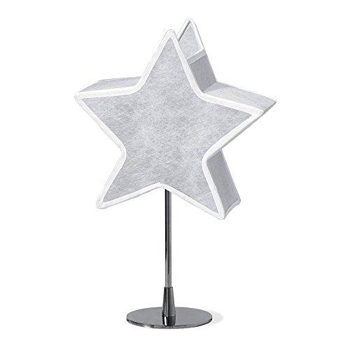 Alondra L532-3070 - Lámpara infantil de sobremesa con estrella, color blanco