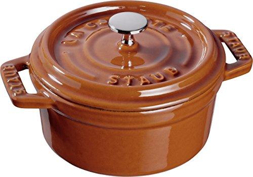 Staub 40511-365-0 Mini Cocotte Ronde Fonte Cannelle 10 cm