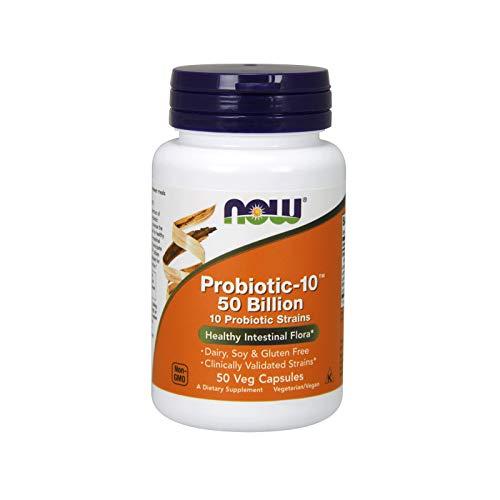Now Foods Probiotic-10 Capsules, 50-Count