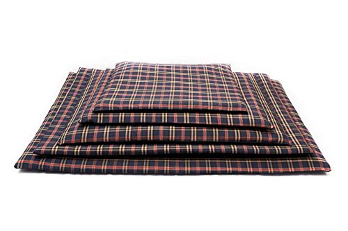 Comfort-Kussen 3BM1-RUIT-BL comfort huisdierbed & mattenmat Tartan, 50x35x3 cm, blauw