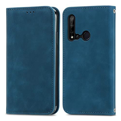 Coque pour Huawei P20 Lite 2019/nova 5i 6.4inch Portefeuille, Housse en Cuir avec Porte Carte Fermeture par Rabat Aimanté Antichoc Étui Case pour Huawei P20 Lite 2019/nova 5i - DESD250640 Bleu