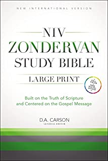NIV Zondervan Study Bible, Large Print, Hardcover: Built on the Truth of Scripture and Centered on the Gospel Message