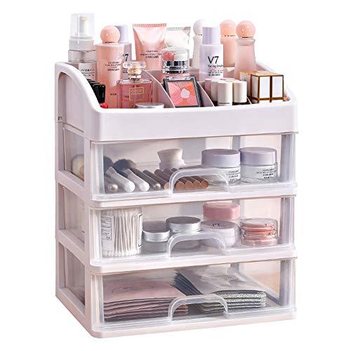 Boîte de rangement cosmétique boîte de rangement tiroir tiroir tiroir portable transparente finition bureau portable finition antipoussière