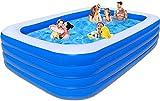 NoToKoon 大型 大人 ビニールプール ベビープール 水遊び 猛暑対策 スイミング 空気入れ必要 家庭用プール 屋内用 お庭 折りたたみ プール (428x210cmx72cm)