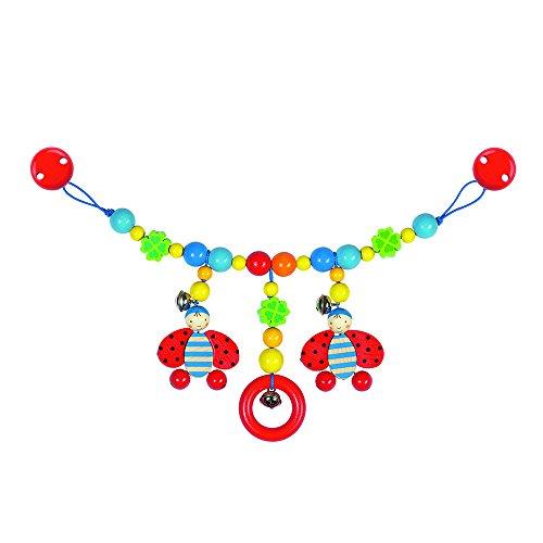 Goki Pram chain ladybird with clips juguete colgantes para bebé - Juguetes colgantes para bebé (Multicolor, Madera, Cochecito/carrito de bebé, Niño/niña, Alemania, 40 cm)