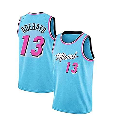 WLNB MiạMi Hėạt BạM Adėbạyo Jerseys de Baloncesto Hombres Chaleco Superior sin Mangas, Bordado Baloncesto Uniforme de Malla Camisetas Deportivas Tops Fan Camisetas # 13 B-M