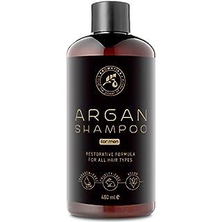 Argan Oil Champu para Hombres 480ml - Shampoo con Aceite de Argán Natural y Extractos de Hierbas - para Todo Tipo de Cabello - Fórmula Reparadora Especial para Hombres - Cuidado del Cabello