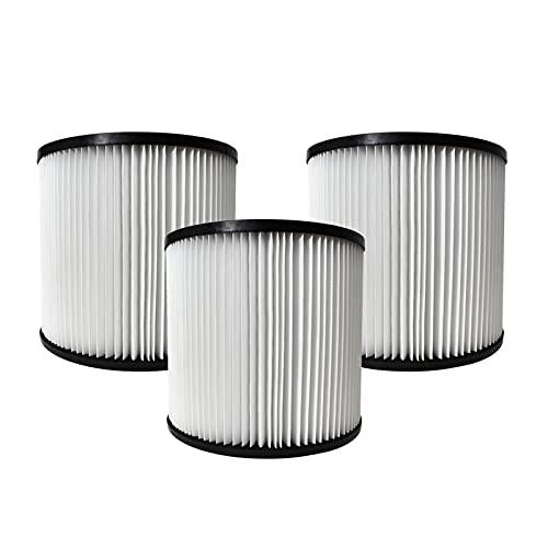 Fenteer Filtro de láminas, filtros de repuesto compatibles con las aspiradoras Shop-Vac 90304, incluye 3 filtros