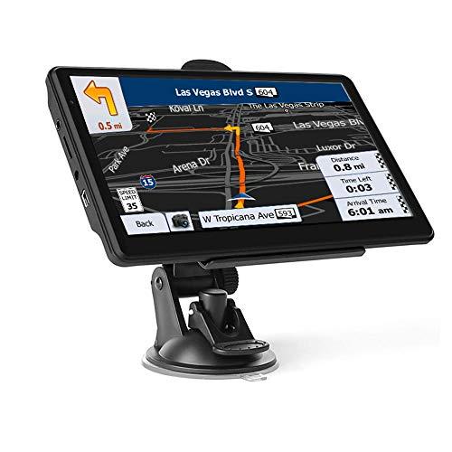 GPS Navigatore Satellitare per Auto Camion,5 Pollici Touchsceen Navigatore 8GB 256MB con POI Avviso autovelox Guida vocale Lane Programma gratuito a vita Aggiornamento UE
