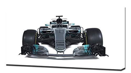 2017 Formula1 Mercedes AMG F1 W08 V4 - Reproducción Lienzo - Arte Enmarcado Impresión De Lienzo