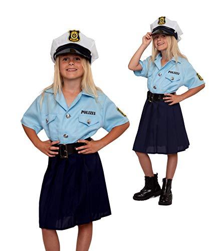Magicoo Disfraz de policía para niños y niñas, tallas 104 a 146, disfraz de policía para carnaval (140/146)