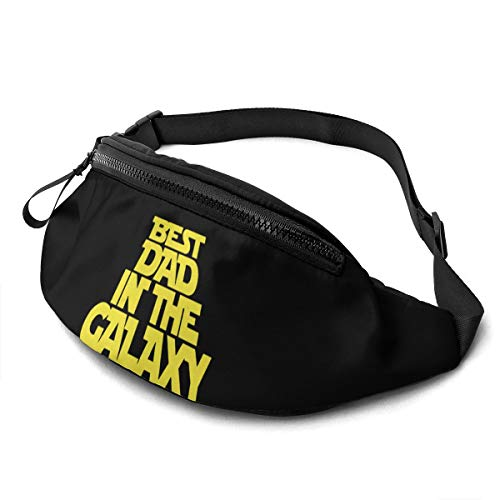 Luwei Best Dad in The Galaxy Unisex Waist Bag Adjustable Strap Portable Sport Chest Pack