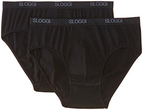 Sloggi Men Basic Midi Brief Uomo, Nero(Schwarz-Schwarz), 2XL