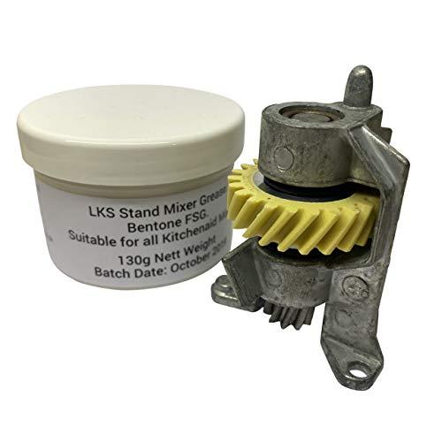 Ensamblaje de piñón helicoidal Kitchenaid y soporte de grasa 240309-2 y 100G LKS para mezcladores 4.5QT y 5QT.