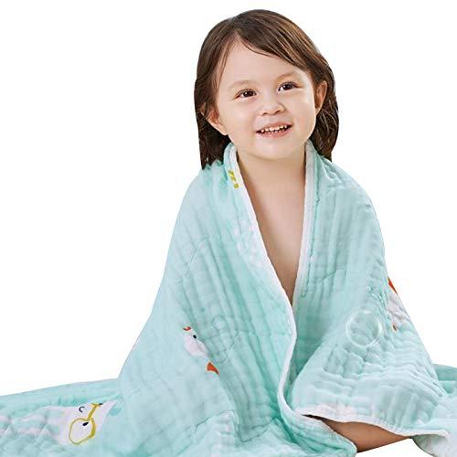 WFF Toallas de baño Toalla de baño para niños niños niñas 0-6 años de Edad, Toalla de Playa de Secado rápido para Piscina natación Ultra Absorbente algodón Poncho Toalla de baño 41.3x41.3 Pulgadas