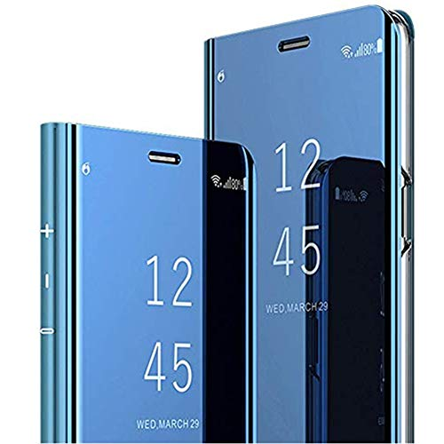 Compatibel Huawei P20 Lite Hoes Mirror Telefoonhoes Spiegel Beschermhoes Clear View Standing Flip Telefoonhoes Harde schaal PC PU Leren hoes Standfunctie Cover voor Huawei P20 Lite