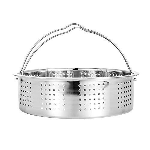 JDV - Cesta de vapor de acero inoxidable para cocina o horno de vapor, compatible con olla...