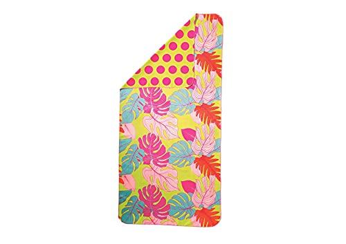 GO CRAZY Toalla de playa de felpa de 75 x 155 cm, toalla de mano, toalla de baño, toalla de microfibra, toalla de playa, toalla de baño, toalla de baño grande (hojas)