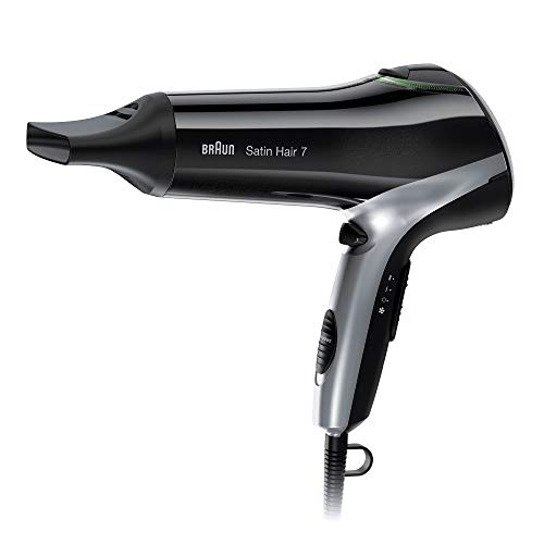 Braun Satin Hair 7 - Secador de pelo profesional con tecnología iónica, 2200 W, color negro