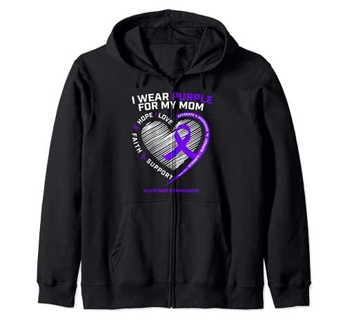 Purple Alzheimers productos de conciencia mamá regalos hombres mujeres Sudadera con Capucha
