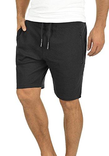 !Solid Taras Herren Sweatshorts Kurze Hose Jogginghose Mit Verschließbaren Eingriffstaschen Und Kordel Regular Fit, Größe:L, Farbe:Black (9000)