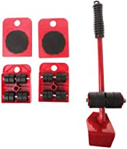 Heavy Furniture Shifter 5 Pieces/Set Of Moving Heavy Objects Movator Transporter Red Set