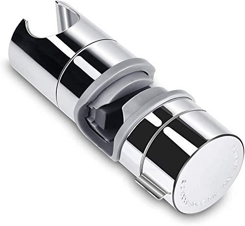 Doccia Supporto Staffa, Regolabile Ricambio Supporto Doccetta 18-25 mm ABS Doccia Soffione Supporto per Barra, Saliscendi con Finitura Cromata
