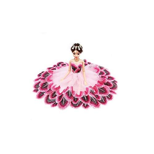 Hermoso Estupendo Vestido De Noche De La Princesa del Partido De Manera Desgasta La Ropa del Vestido Conjunto De Juguete - Rosa /