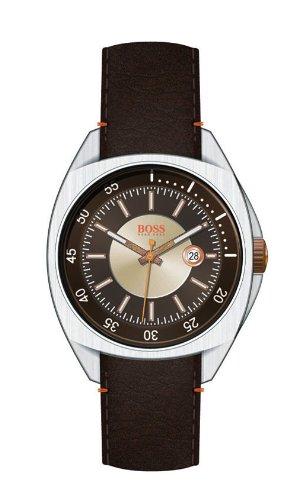 Hugo Boss 1512294 - Reloj de Caballero de Cuarzo, Correa de Piel Color marrón