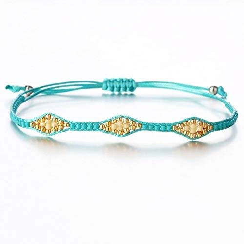 DMUEZW Kleurrijke Zaad Kralen Lederen Bedel Armbanden Voor Vrouwen Mannen Mode Meerdere Lagen Wikkel Armband Sieraden Gift Sieraden