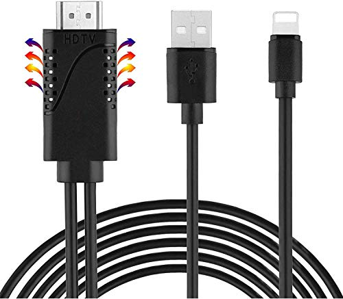 Preisvergleich Produktbild Biang HDMI-Kabel,  HDMI Kabel für Phone Pad - Phone zu TV HDMI Kabel 1080P Digital AV Adapter HDTV Kabel Phone 11 / XS / X / 8 / 7 / 6s, Pad Mini / Air / Pod Touch